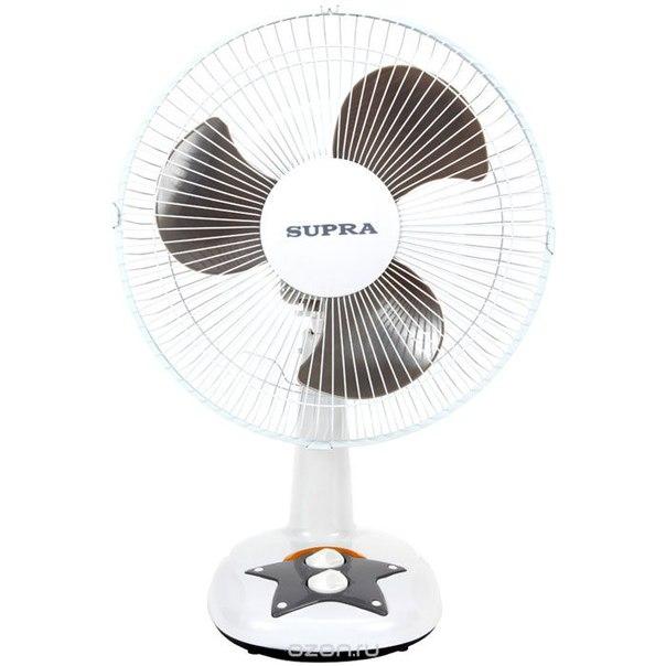 Vs-1211, white grey настольный вентилятор, Supra