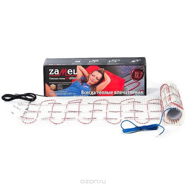 Теплый пол moj-15 двухжильный мат, до 1,5 м2, 150 вт/м2, Zamel