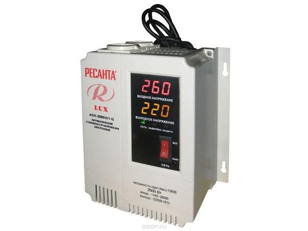 Стабилизатор напряжения асн-2000 н/1-ц lux, Ресанта
