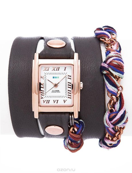 "Часы женские наручные ""chain amber friendship dark grey"". lmcw9007, La Mer Collections"