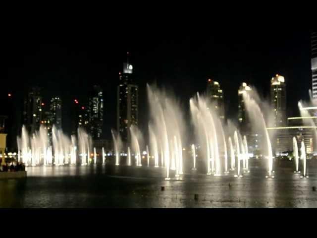 Дубай, Танцующий фонтан, Уитни Хьюстон