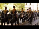 King's Troop ride back to Wellington Barracks