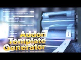 Blender 2.70 Addon : AddonTemplateGenerator