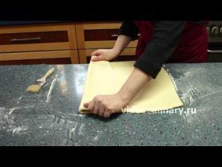 Дрожжевое слоёное тесто для Круассанов - рецепт Бабушки Эммы