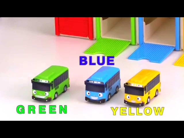 Learn colors with Tayo bus - Wheels on the Bus - Kids Play Toys - Video for kids