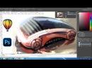 Концепт-Арт автомобиля (ручная графика,CorelDraw,Photohop)