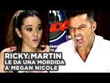 Ricky Martin gives a bite to Megan Nicole / Ricky Martin le da una mordida a Megan Nicole