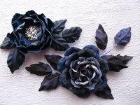 Цветы на обруч своими руками
