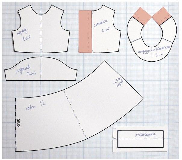 Платья для текстильных кукол своими руками выкройки