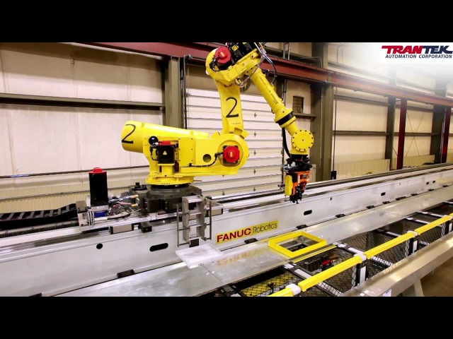 FANUC R-2000iB Flying Robots in Camshaft Machining Center -- Courtesy of TranTek Automation