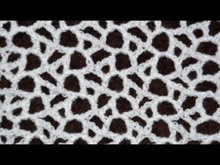 Красивая сеточка крючком • Вязание сеточки • Crocheted mesh