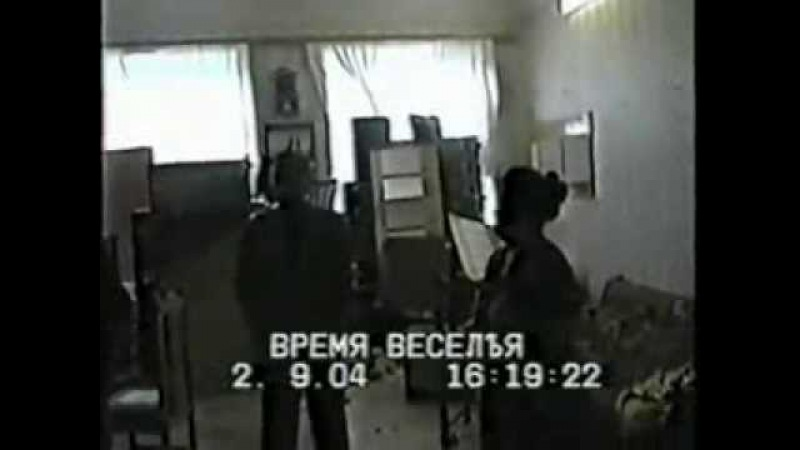 Беслан Аушев и директор школы (редкие кадры)