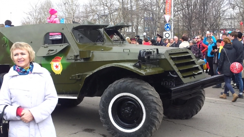Парад ретро-автомобилей, 9 мая 2015, г. Елизово