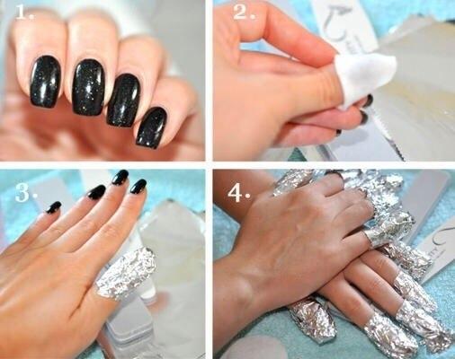 Снять гель с ногтей в домашних условиях фото