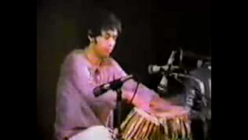Zakir Hussain solo with Ajoy Chakraborty in harmonium