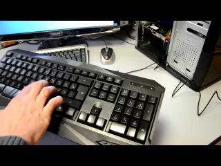 Набор геймера (клавиатура + мышь) Genius KM-G230 - Распаковка, обзор