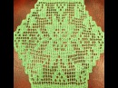 Филейная салфетка крючком. Вязание салфетки. Филейное вязание крючком. (Crochet napkin)