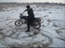 Дрифт на мопеде АЛЬФА по снегу