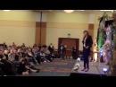 Ellen Hollman as Saxa from Spartacus Impersonates her idol Zena Lucy Lawless