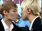 ENG SUB 130729 EXO Sehun &amp Lay Pepero Kiss