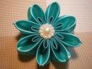 Цветок Канзаши Видео-мастер класс. / DIY Flowers