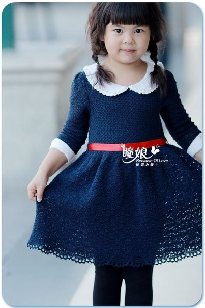 Детское платье с воротничком (10 фото) - картинка
