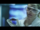 Stock-footage-young-woman-scientist-does-ecological-researches-shot-on-red-cinema-camera-in-k-uhd