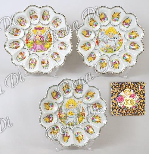 Тарелка под яйца на пасху