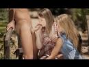 Super cute Euro teens share a cock, outside (sex porn fuck teen home big tits blowjob секс эротика большие сиськи минет порно)