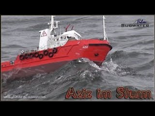 "RC Storm ADVENTURE: Offshore Versorger ""Aziz"" im Sturm"