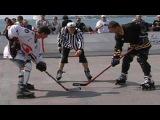 Хоккей на земле Ролики Клюшки и мусорные корзины США Русская Америка