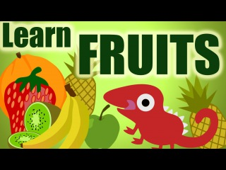 Learning for kids - Let's Learn about Fruit cartoon - starring hungry Chameleon