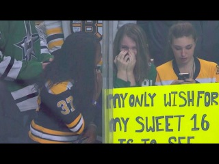 Tyler Seguin brings girl to tears with puck on her birthday