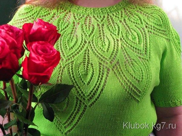 Пуловер с круглой кокеткой (4 фото) - картинка