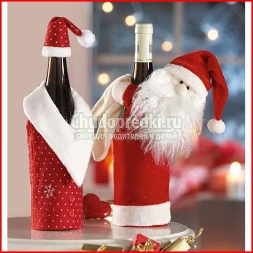 Бутылки к новому году 2015