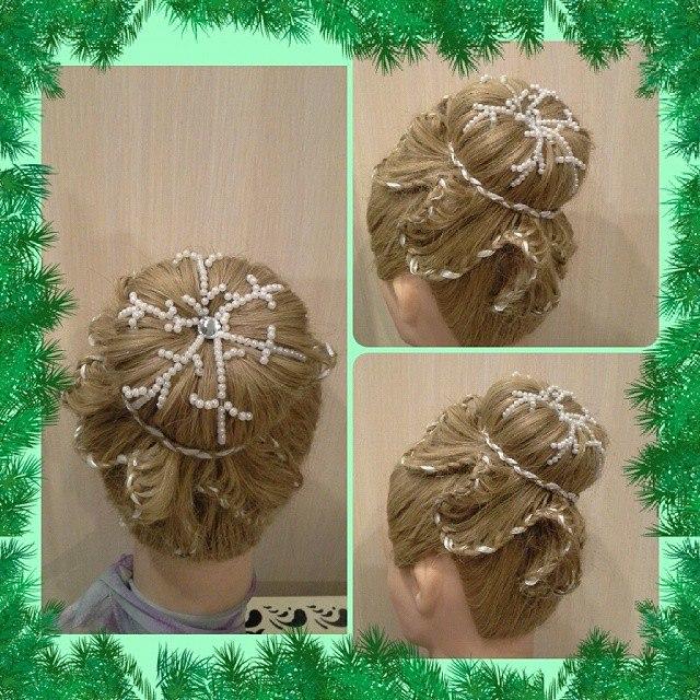 Снежинка плетение прически