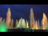 Вот так приятно и интересно мы провели вечер с папой на  магическом фонтане Барселоны