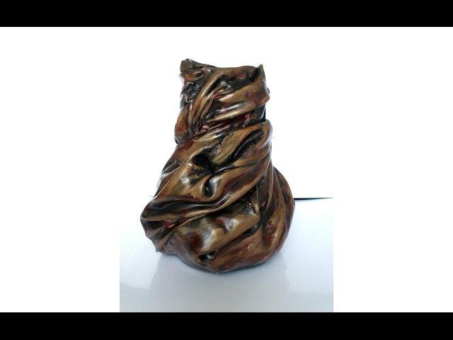 Jarrón hecho con tela DIY florero Vase with Fabric