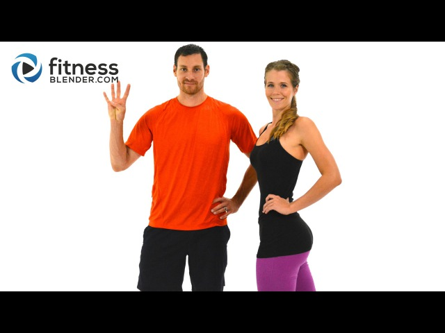 FitnessBlender - Day 4. Challenge to Burn Fat and Build Lean Muscle. Kickboxing Yoga Workout.