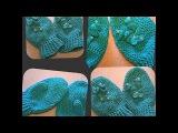 варежки крючком на 4 года - crochet mittens for 4 years