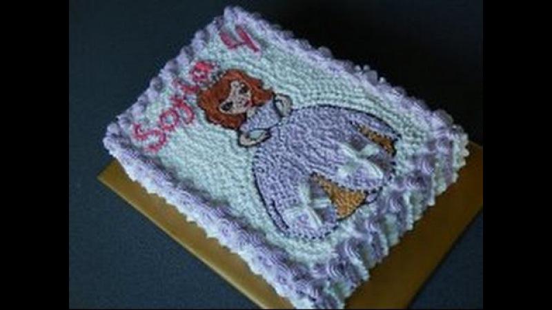 детский торт-раскраска София прекрасная Sofia The First Torte