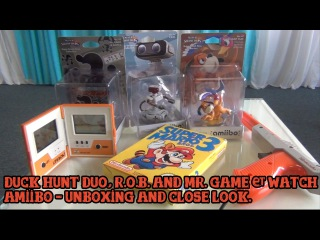 [Amiibo] Duck Hunt Duo, R.O.B. and Mr. Game & Watch - close look