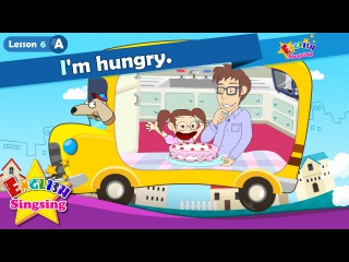 Lesson 6_(A)I'm hungry - Have some cake - At the table - Cartoon Story - English Education