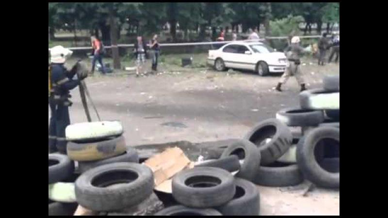 02.06.14 Луганск ОГА После авиаудара