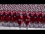 Китайские девушки, военный парад под песню Катюша