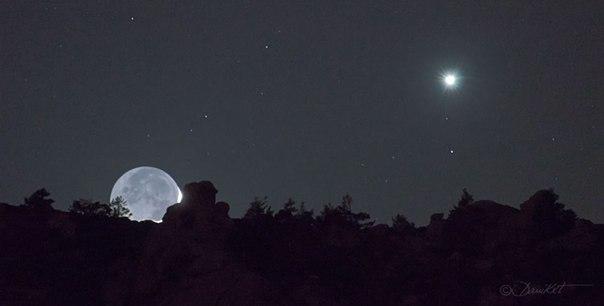Луны и венера стареющая луна и венера