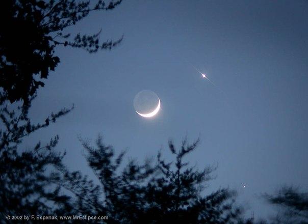 И венера стареющая луна и венера
