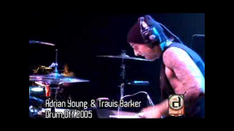 TRAVIS BARKER ADRIAN YOUNG AT GUITAR CENTER'S DRUM OFF '05