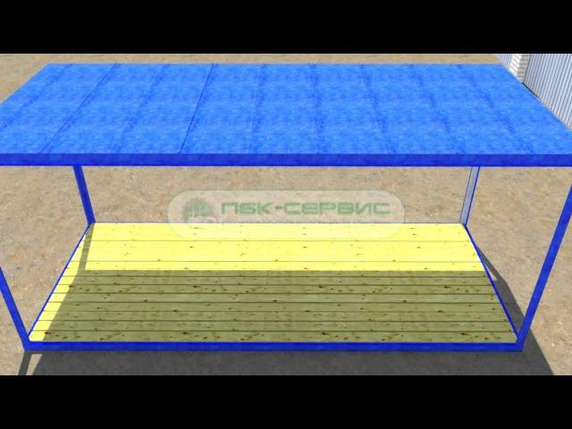 Устройство и сборка блок контейнера (металлической бытовки), ПБК-Сервис, Пестово