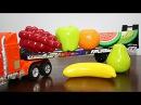 УЧИМ ФРУКТЫ:развивающий мультик про машинку,фрукты для детей - Развивающий мультфильм про Грузовичок